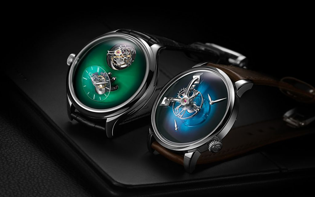 HMoser and MB&F watch Collaboration Endeavour Cylindrical Tourbillon and LM101