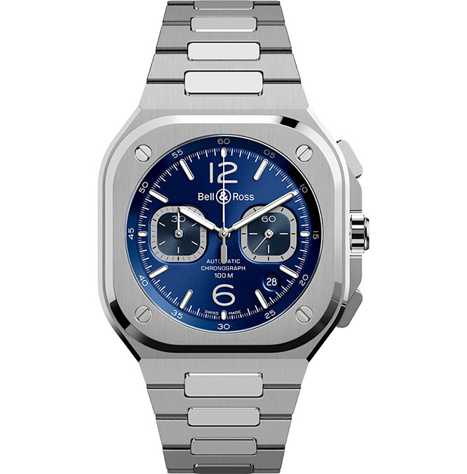 Bell & Ross BR 05 Chrono Blue Steel BR05C-BU-ST/SST at Cortina Watch
