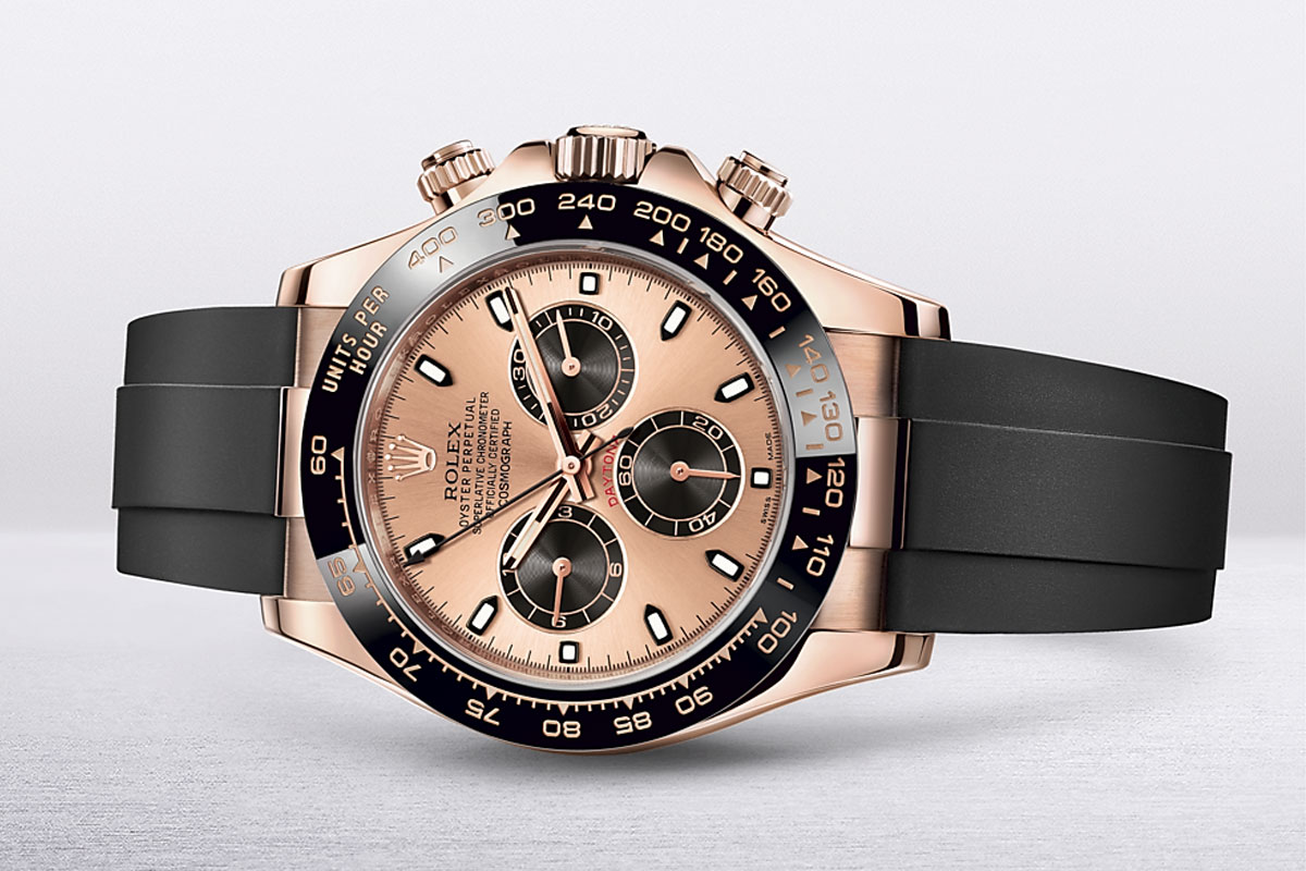 Rolex Cosmograph Daytona 40 in Everose gold and rosé colour and black dial m116515ln-0018