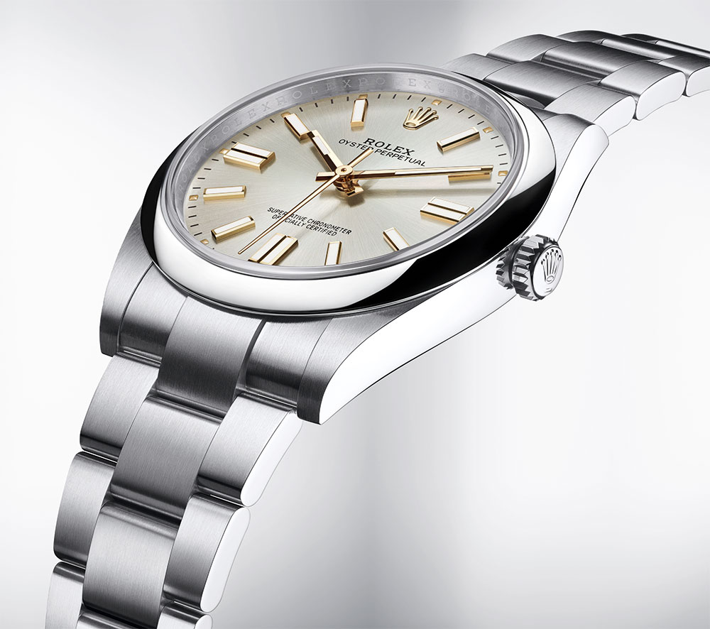 Rolex Oyster Perpetual 41 with a silver dial M124300-0001