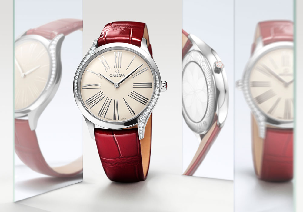 Omega-De-Ville-Tresor-in-steel-case-with-diamonds-and-red-leather-strap-ref-428.18.36.60.02