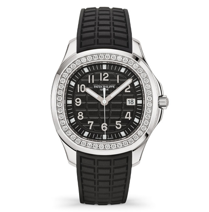 patek philippe aquanaut luce stainless steel black dial ref 5267_200A_001 front