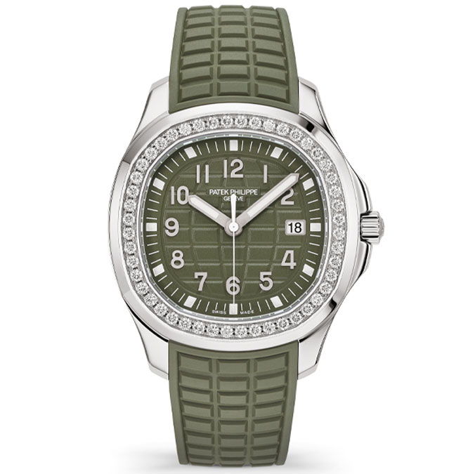 patek philippe aquanaut luce stainless steel khaki green dial ref 5267_200A_011 front